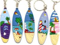 RUBBER KEYRING, SURF BOARD
