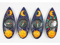RESIN MAGNET, SUN/MOON, COMPASS