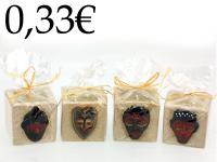 CERAMIC CANDLE HOLDER, AFRICAN MASKS