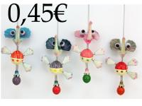 RESIN ELEPHANT WITH SPRING, FOR HANGING