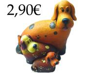 3 PIECES RESIN DOGS