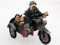 RESIN SOLDIER WITH MOTOR BIKE-SIDECAR