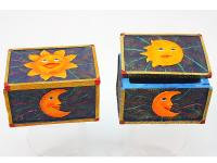 RESIN BOX, SUN/MOON, RECT.