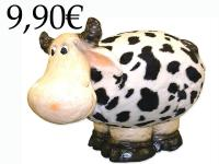 PAPER MACHE COW WITH HAIR