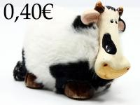 CERAMIC/WOOL COW