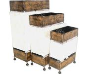 3 PIECES, CAPIZ LAMPS, RECTANGULAR