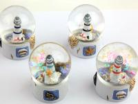 WATER BALL WITH RESIN LIGHTHOUSE