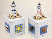 BOX WITH WOODEN LIGHTHOUSE