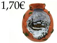 RESIN ORNAMENT, WITH SNOW SCENE