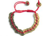 THREAD BRACELET WITH COINS