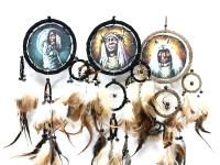 DREAMCATCHER WITH PAINTED INDIAN FACE