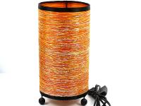 ROUND FABRIC LAMP, ORANGE