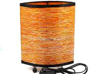 OVAL FABRIC LAMP, ORANGE
