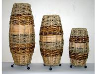 3 PIECES WICKER LAMPS