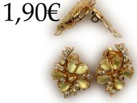 NACRE EARRINGS, GOLD-PLATED