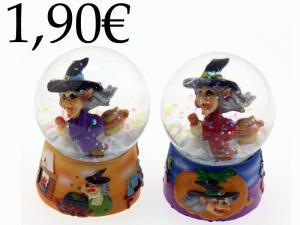 CRYSTAL/WATER BALL, RESIN WITCH
