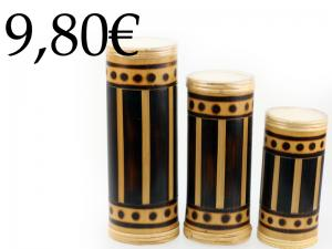 3 PIECES BAMBOO CANDLES