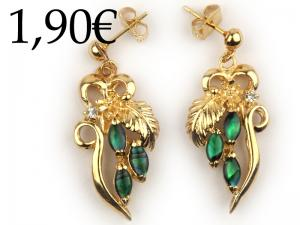 COLOUR ABALONE EARRINGS, GOLD-PLATED